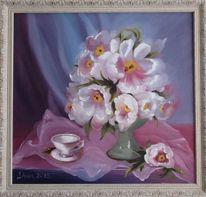 Vase, Tasse, Weiß, Blumen