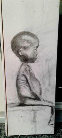 Portrait, Extrem, Hungrige, Zeichnung