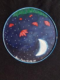 Mond, Seide, Nacht, Pinsel