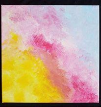 Farbverlauf, Acrylmalerei, Schwamm, Bunt
