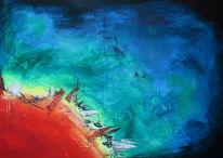 Acrylmalerei, Abstrakt, Malerei, Mischtechnik