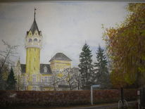 Park, Aquarellmalerei, Museum, Aquarell