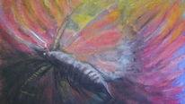 Pastellmalerei, Pastell kreide, Bunte fantasie, Zeichnungen