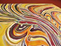 Entstehung, Konzeption, Naturfarben, Acrylmalerei
