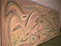 Wegweiser, Abstraktmalerei, Ebowerthro, Verborgen