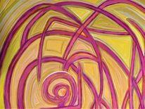 Abstrakt, Acryl auf leinwand, Malerei, Naturfarben