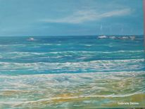 Strand, Meer, Landschaftsmalerei, Gabrieledenno