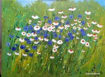Blumen, Grün, Wiese, Blumengarten