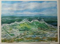 Die welle, Welle, Landschaft, Landschaftsmalerei