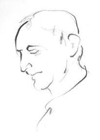 Portrait, Mann, Gesicht, Zeichnung