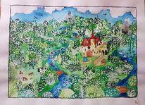 Fluss, Landschaft, Naiv, Wald