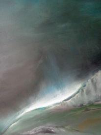 Natur, Malerei, Abstrakte landschaft, Wolken