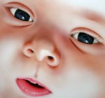Baby, Portrait, Airbrush, Malerei