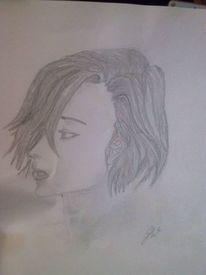 Manga, Portrait, Zeichnung, Zeichnungen