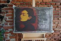 Audreyhepburn, Malerei, Mischtechnik, Acrylmalerei