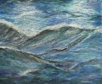 Ozean, Landschaft, Grün, Surfen