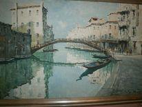 Landschaft, Malen, Venedig, Malerei