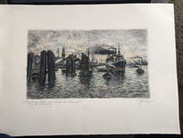 Schiff, Hamburger michel, Hamburg, Hafen