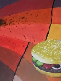 Surreal, Burger, Acrylmalerei, Malerei