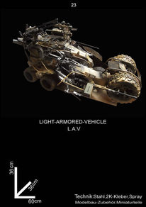 Science fiction, Plastik, Fahrzeug, Kunsthandwerk