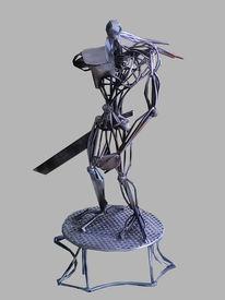 Körper, Abstrakt, Stahl, Skulptur