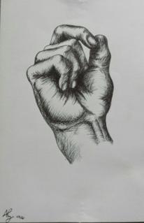 Weiß, Hand, Schatten, Schwarz weiß