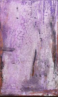 Acrylmalerei, Sumpfkalk, Holz, Kupfer