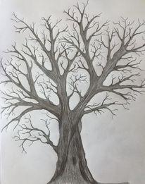Akt, Baum, Einsamkeit, Pflanzen
