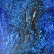 Abstrakt, Blau, Welle, Malerei