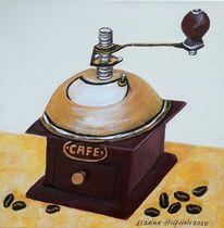 Kaffeemühle, Kaffee, Acrylmalerei, Malerei