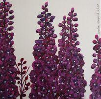 Pflanzen, Rittersporn, Blumen, Malerei