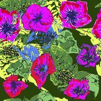 Blumen, Grün, Wiese, Pink