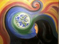 Frau, Haare, Erde, Wärme
