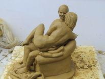 Ton, Paar, Skulptur, Plastik