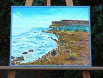 Wolken, Ölmalerei, Meer, Blau