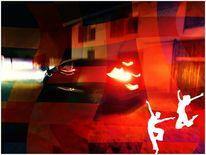 Farben, Verschwimmen, Auto, Licht