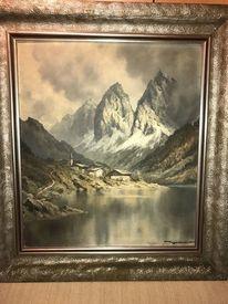Berge, Landschaft, Natur, Zeichnung