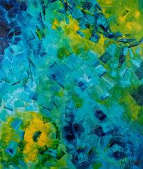Blau, Abstrakt, Meerjungfrau, Wasser