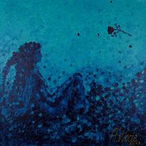 Frau, Meerjungfrau, Meer, Blau