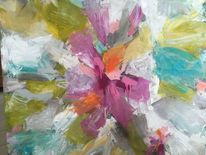 Blumenstrauß, Hellblau, Blumen, Pink