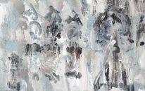 Ölmalerei, Grau, Kathedrale von rouen, Urlaub