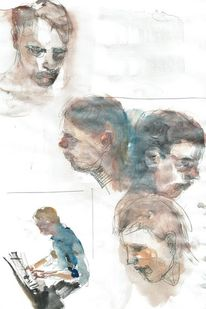 Portrait, Studie, Pianist, Klavier