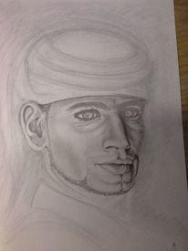 Mann, Augen, Wache in petra, Zeichnungen