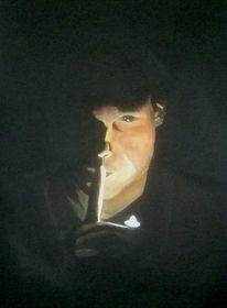 Portrait, Schwarz, Chiaroscuro, Schatten