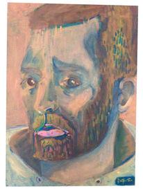 Mann, Portrait, Bart, Pullover