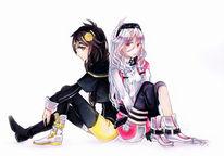 Anime, Mädchen, Manga mädchen, Sitzen