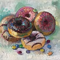 Stillleben, Torte, Kuchen, Donut