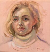Ohrringe, Gesicht, Mädchen, Portrait