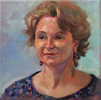 Portrait, Frau, Dame, Malerei