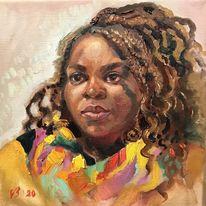 Frau, Licht, Portrait, Menschen